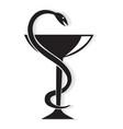 Pharmacy symbol medical snake vector image