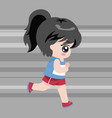 cute character running vector image
