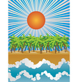 Sunny tropical island vector image