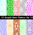 10 Retro Patterns Textures Set 13 vector image vector image