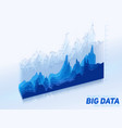 abstract colorful financial big data graph vector image vector image