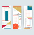 abstract retro vertical banners with multicolored vector image