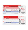 airline boarding pass ticket isolated on white vector image