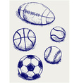 Balls for sports vector image vector image