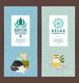 beauty and spa salon or bath shop vector image vector image