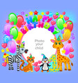 birthday party frame your baphoto vector image vector image
