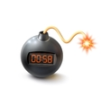 Bomb With Timer vector image vector image