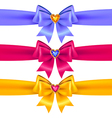 bows heart color vector image vector image