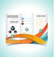 brochure design template10 vector image vector image