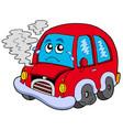 broken cartoon car vector image