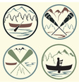 canoe camp vintage labels set vector image vector image