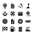 car service solid icons vector image vector image