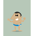 Cartoon bodybuilder vector image vector image