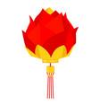 cartoon red chinese lotus lantern vector image
