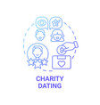 charity dating concept icon vector image vector image