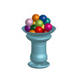 chewing gum in the jar object isolated 3d vector image