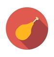 Chicken legs flat icon vector image