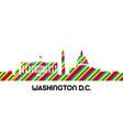 cityscape of washington dc vector image vector image