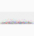 colorful paper confetti on transparent background vector image
