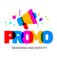 creative of multicolor promo business word vector image