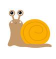 cute snail icon cartoon kawaii funny kids baby vector image vector image