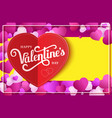 design banner with lettering happy valentine s day vector image