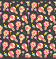design patterns with various colorful ice cream vector image