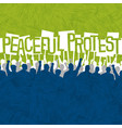 design template people peacefully protesting vector image