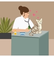doctor cat veterinarian nurse examining vector image