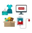 Donate help symbols vector image vector image