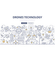 Drones Technology Doodle Concept vector image vector image