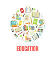 education banner template with school supplies od vector image vector image