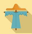 farm scarecrow icon flat style vector image vector image