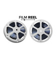 film reel retro movie object classic vector image