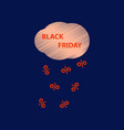 flat shading style icon black friday discounts vector image vector image