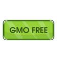 gmo free icon cartoon style vector image vector image