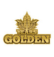 golden years vector image