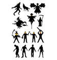 halloween monster zombie serial killer set vector image