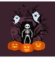halloween poster flyer banner or background vector image vector image