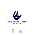 hand pencil logo icon vector image vector image