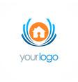 home secure emblem logo vector image vector image