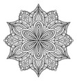 mandala black oriental decorative flower pattern vector image vector image