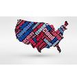 Map of USA Theme of economy and global finance vector image vector image