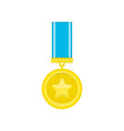 medal icon with long shadow vector image