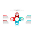medical and healthcare infographic vector image vector image