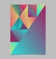 minimal abstract polygonal multicolor triangle vector image vector image