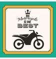 motorcycle rider design vector image vector image