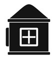 plastic kid play house icon simple style vector image
