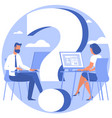 question mark looking for solution vector image vector image