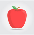 red apple on a white space with shadows vector image vector image